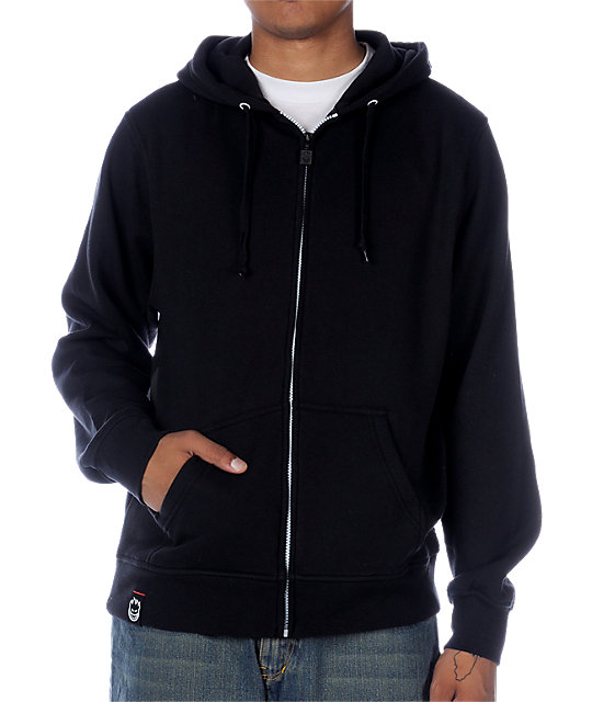 Spitfire Solid With Back Print Black Hoodie at Zumiez : PDP
