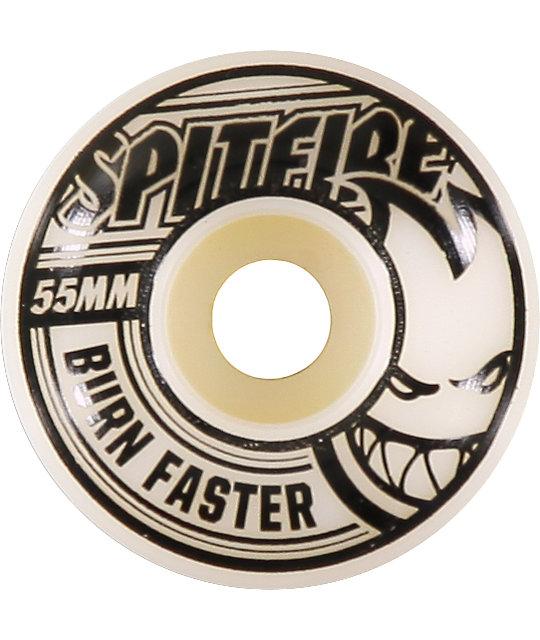 Spitfire Speedburn Black & White 55mm Skateboard Wheels