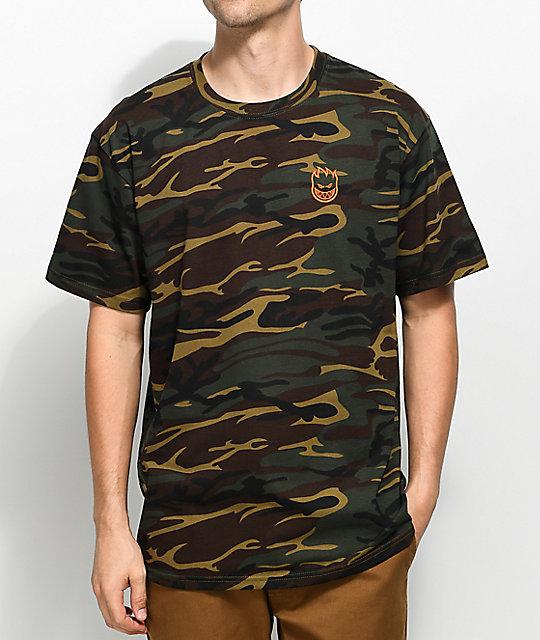 Spitfire Stock Bighead Embroidered Camo T-Shirt