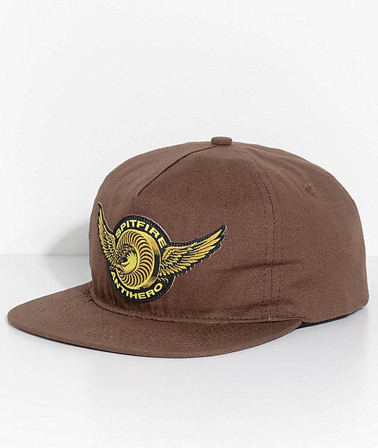 Spitfire x Anti Hero Brown Snapback Hat