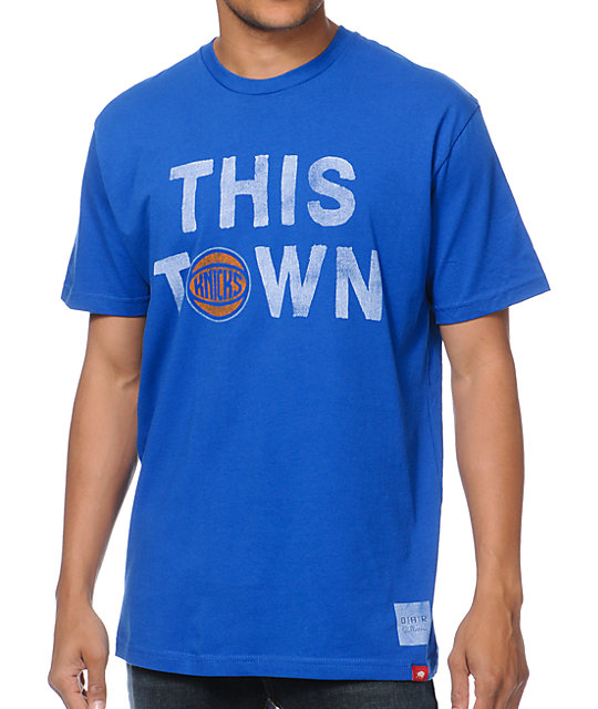 Sportiqe Knicks This Town Blue T-Shirt
