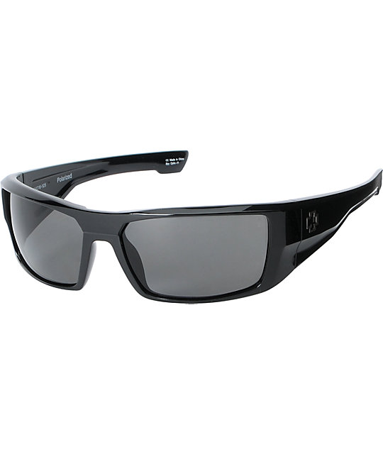 Spy Dirk Gloss Black Polarized Sunglasses