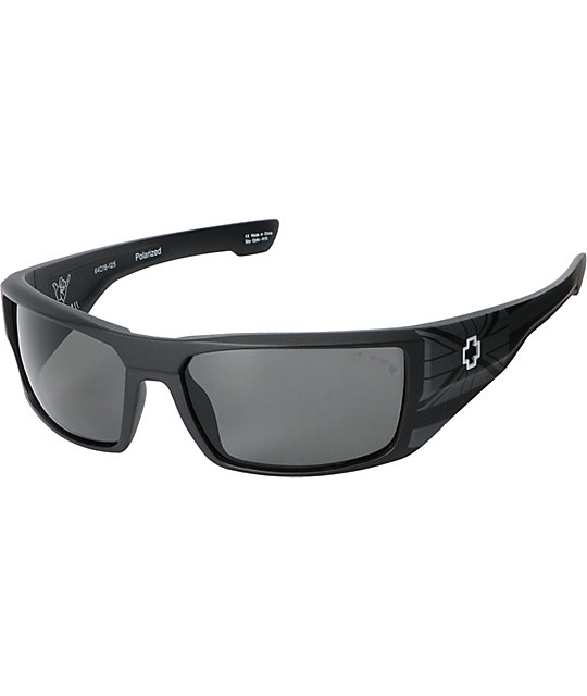 Spy Dirk Hawaii Matte Black & Grey Polarized Sunglasses