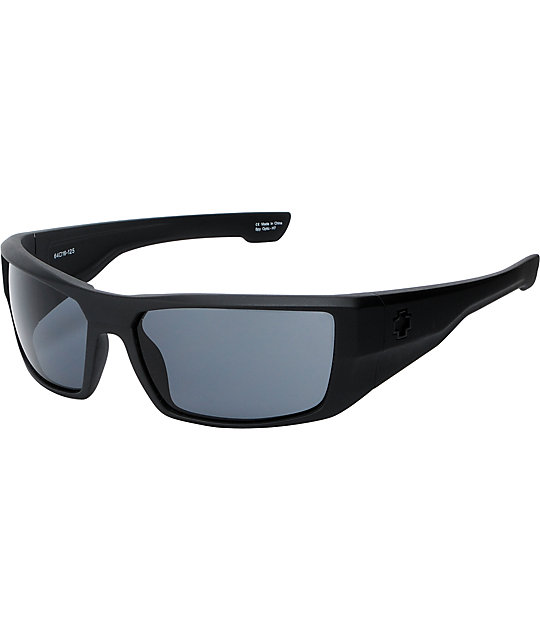 Spy Dirk Matte Black & Grey Sunglasses