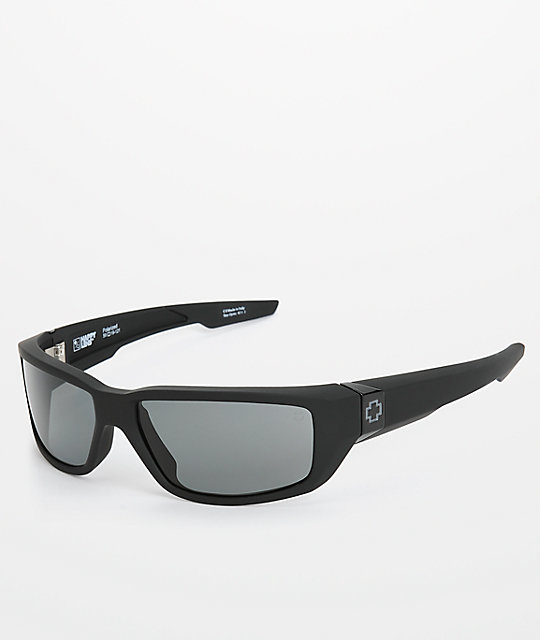 d855c3f2d8e66 Spy Matte Black Bounty Polarized Sunglasses