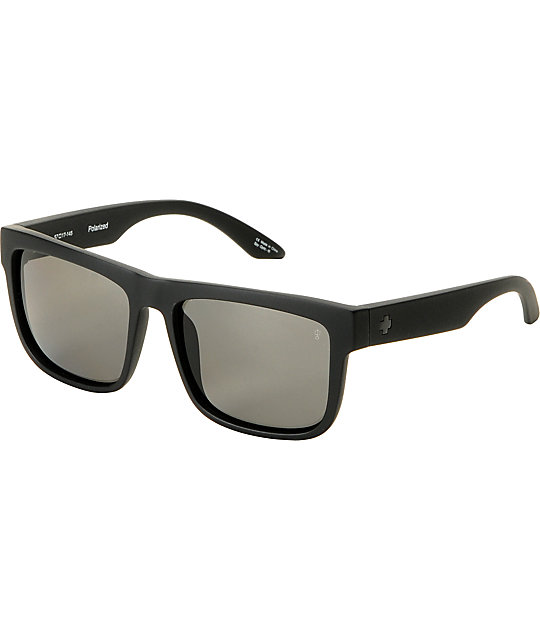 Spy Discord Matt Black Polarized Sunglasses