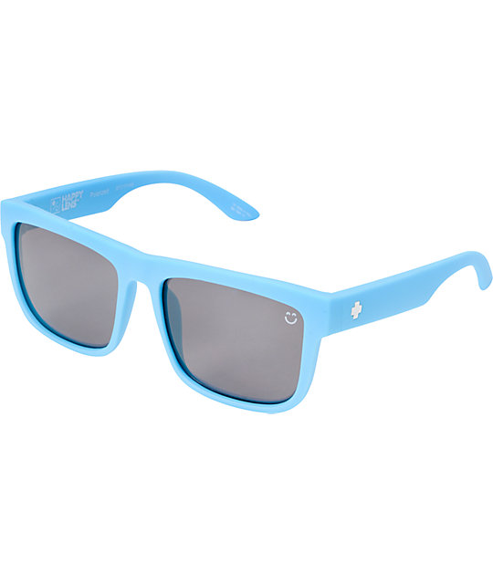 Spy Discord Matte Blue Happy Lens Polarized Sunglasses