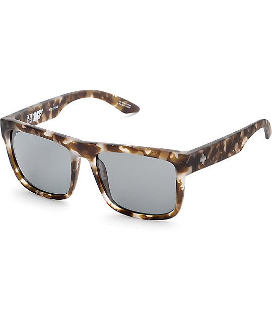 Spy Discord Soft Matte Smoke Tortoise Happy Lens Sunglasses