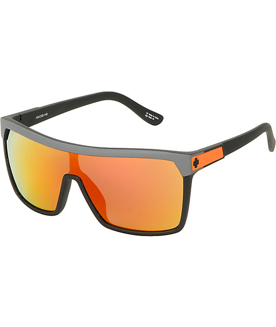 Spy Sunglasses Flynn  spy flynn messenger grey orange spectra sunglasses at zumiez pdp