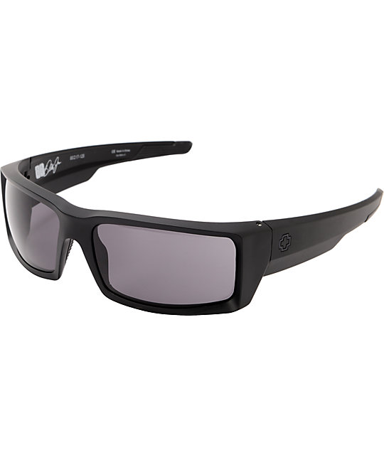 Spy General Matte Black & Grey Sunglasses