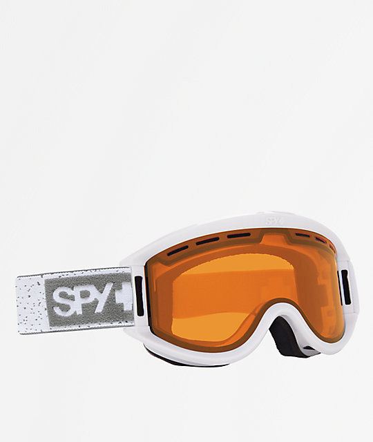 Spy Getaway White Heather Bronze Snowboard Goggles