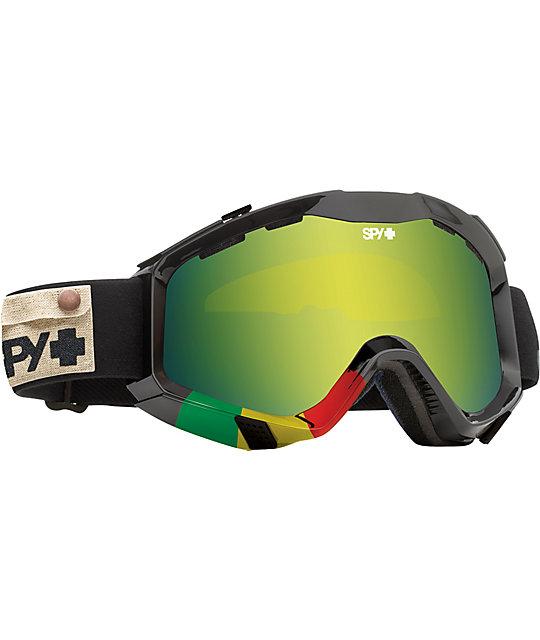 Spy Goggles Zed Lion Rasta & Green Spectra Goggle