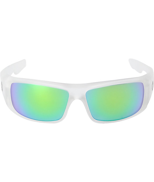 Spy Logan Matte Clear & Green Spectra Sunglasses