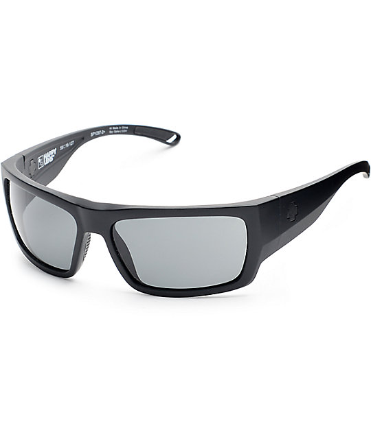 Spy Rover Ansi RX Matte Black Happy Lens Sunglasses