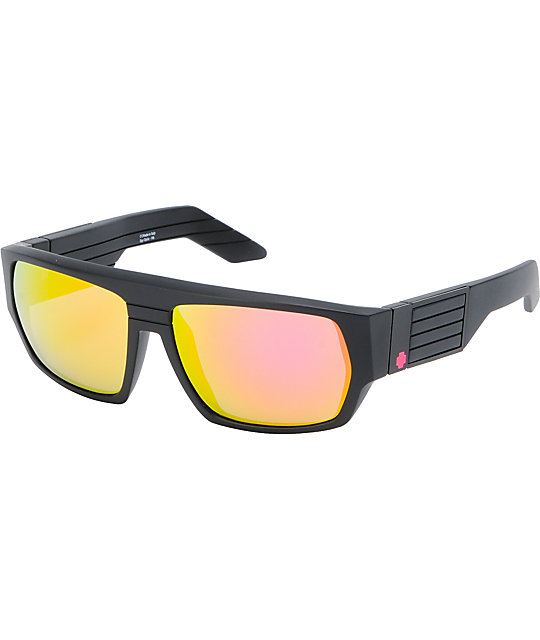 Spy Sunglasses Blok Matte Black & Multilay Pink Sunglasses