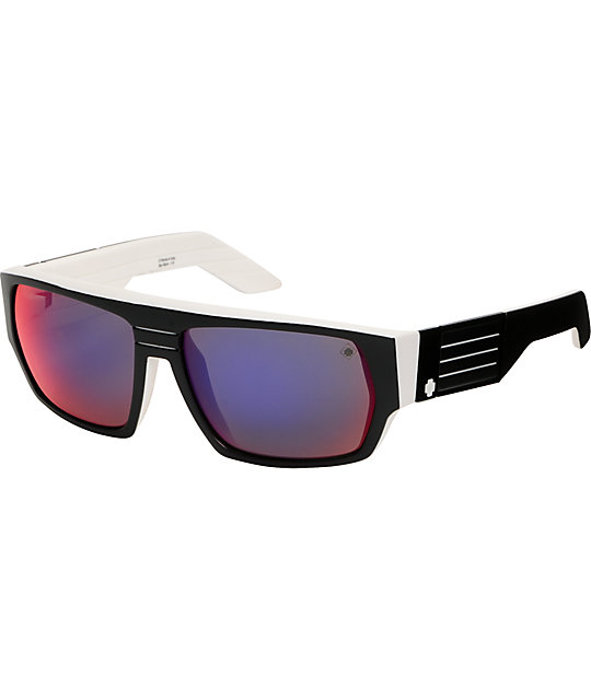Spy Sunglasses Blok Whitewall Grey & Navy Spectra Sunglasses