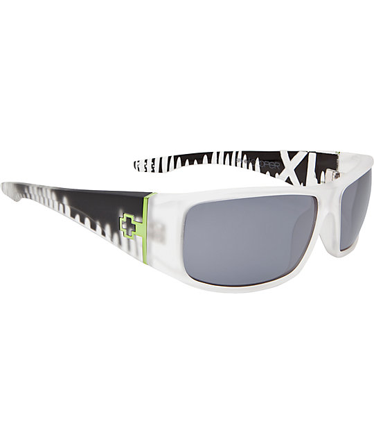 Spy Sunglasses Cooper XL Ken Block Signature Clear Drips Sunglasses