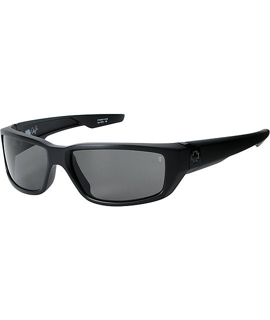 Spy Sunglasses Dirty Mo  spy sunglasses dirty mo polarized matte black sunglasses at zumiez
