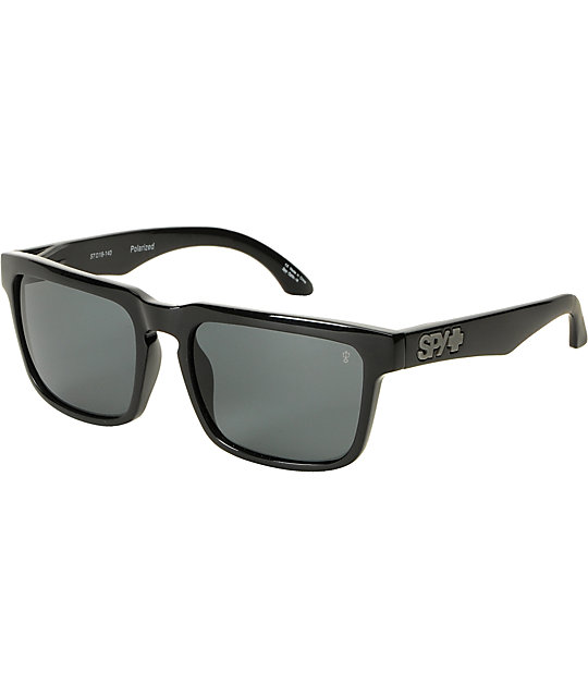 Spy Sunglasses Helm Black & Grey Polarized Sunglasses