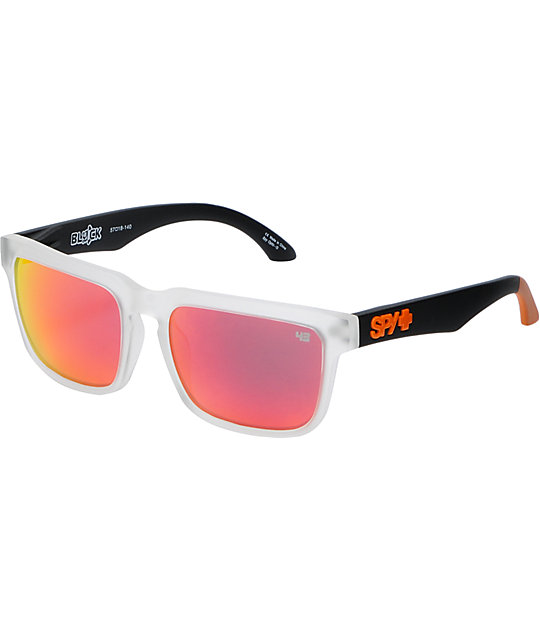 Spy Sunglass  spy sunglasses helm ken block grey orange sunglasses at zumiez pdp