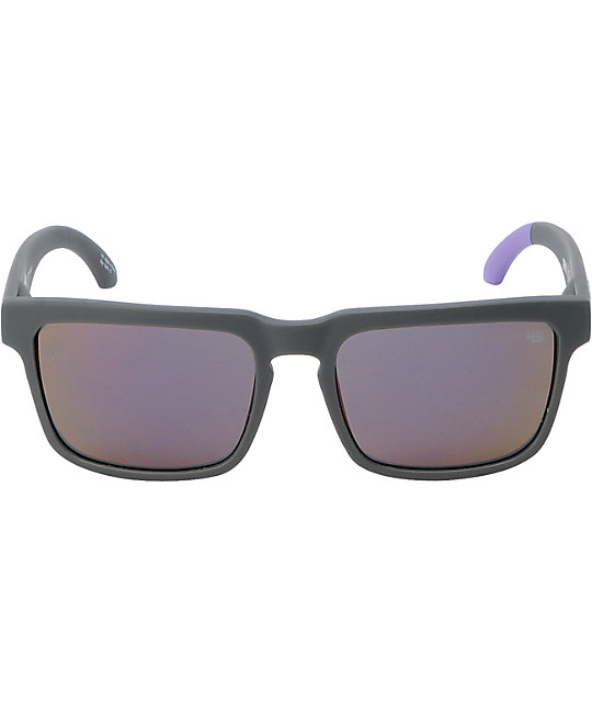 Spy Sunglasses Helm Ken Block Primer Grey & Purple Sunglasses