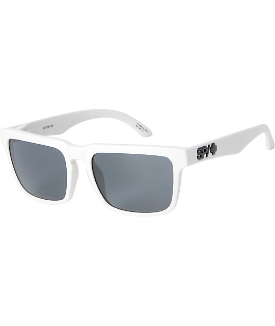 Spy Sunglasses Helm Matte White & Grey Sunglasses