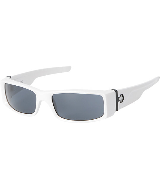Spy Sunglasses Hielo Shiny White & Grey Sunglasses