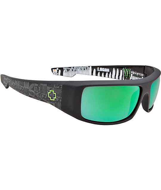 Spy Sunglasses Logan Ken Block Signature Matte Black Sunglasses