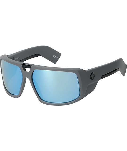 Spy Sunglasses Touring Matte Grey & Blue Spectra Sunglasses