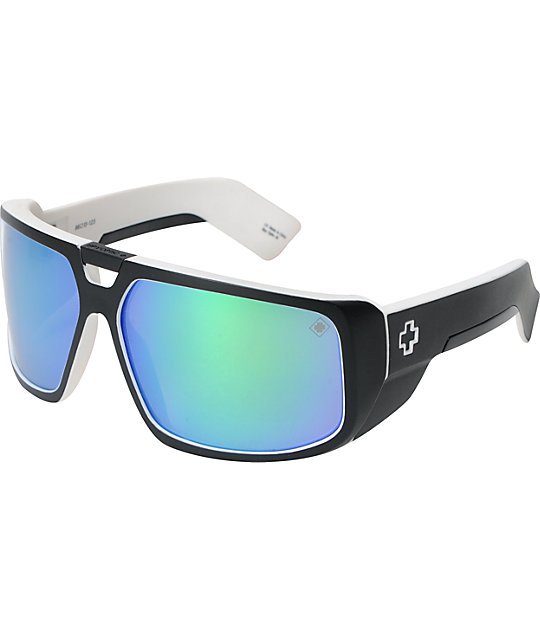 Spy Sunglasses Touring White Wall Green Spectra Sunglasses