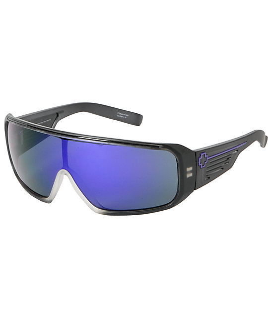 Spy Sunglasses Tron Matte Black Ice & Purple Sunglasses