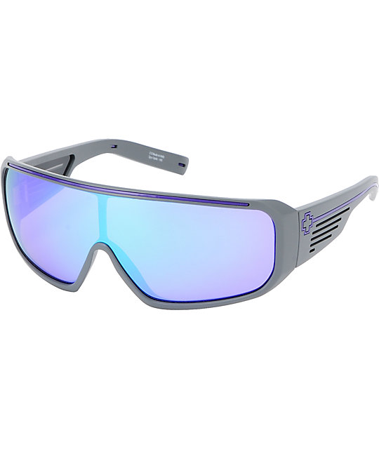 Spy Sunglasses Tron Matte Grey & Green Sunglasses