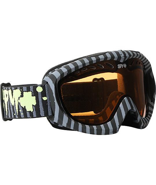 Spy Targa II Horrific Black Pinstripe Snowboard Goggles