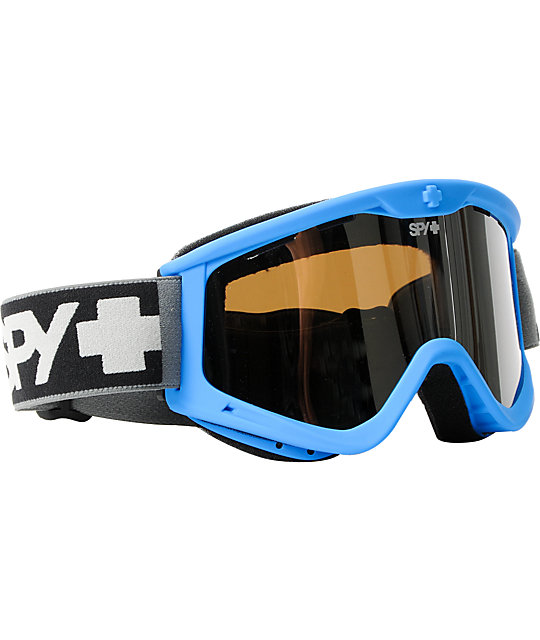 Spy Targa III Blue Ghost & Silver Snowboard Goggles