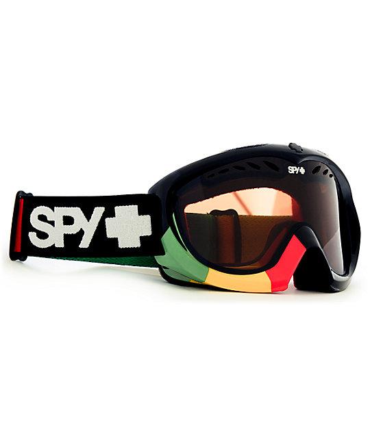 Spy Targa Jammin Black & Rasta Snowboard Goggle