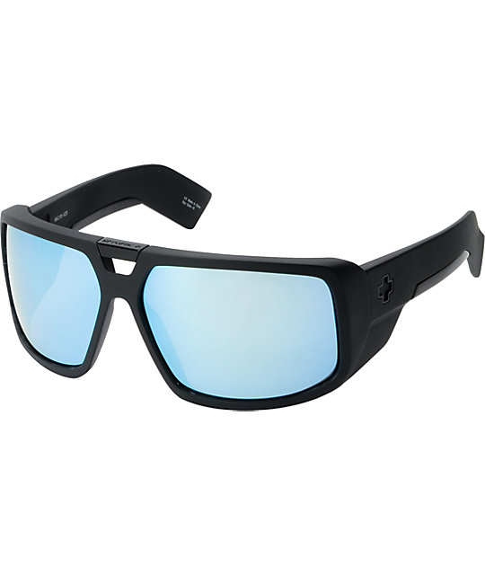 Spy Touring Matte Black & Blue Spectra Sunglasses