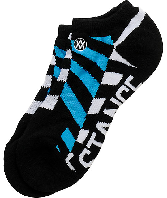 Stance Bizzaro Blue & Black Ankle Socks