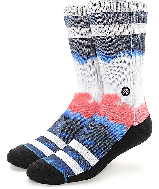 Stance Blue Tie Dye Crew Socks