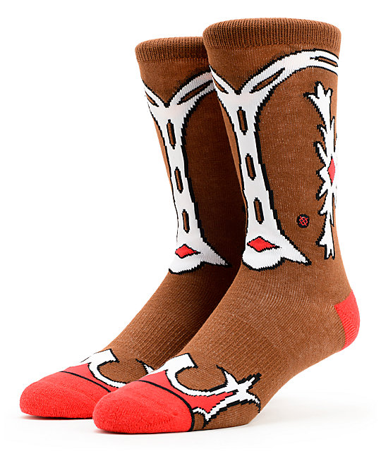 Stance Cowgirl Printed Boot Crew Socks