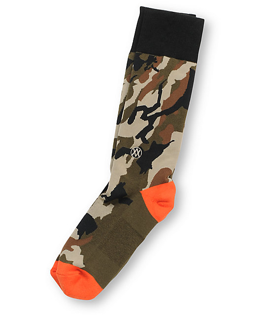 Stance Deer Hunter Camo Crew Socks