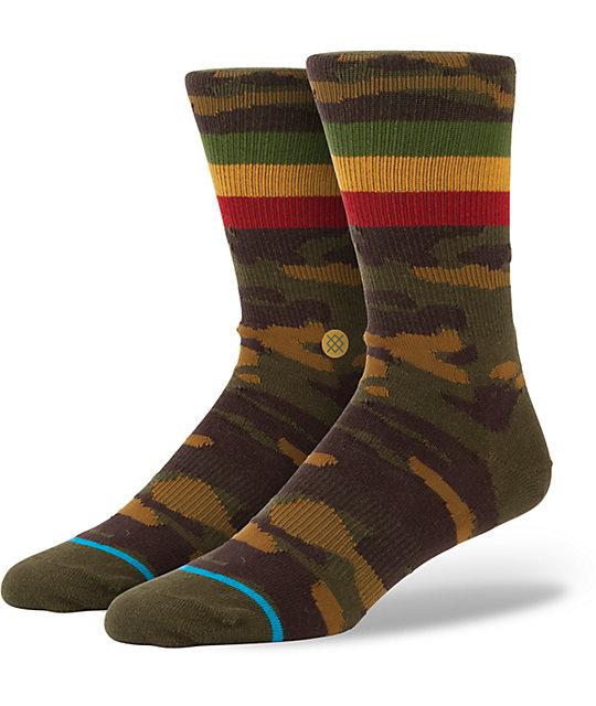 Stance Liberation Camo & Rasta Crew Socks