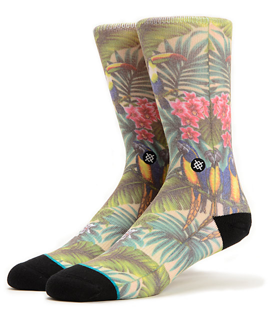 Stance Mahalo Hawaiian Print Crew Socks