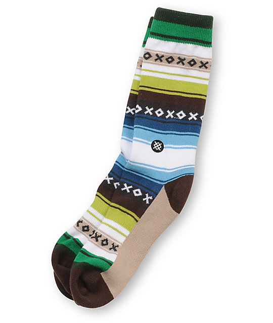 Stance Mexicali White Striped Crew Socks