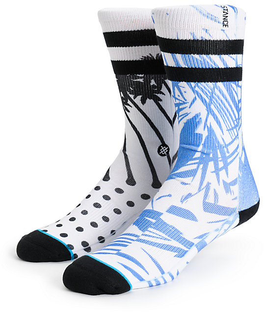 stance mulch abstract floral crew socks. Black Bedroom Furniture Sets. Home Design Ideas