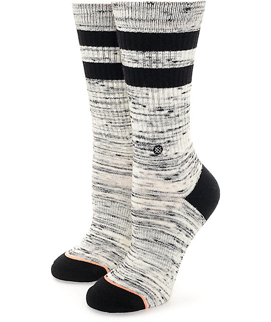 Stance Plain Jane Black Crew Socks