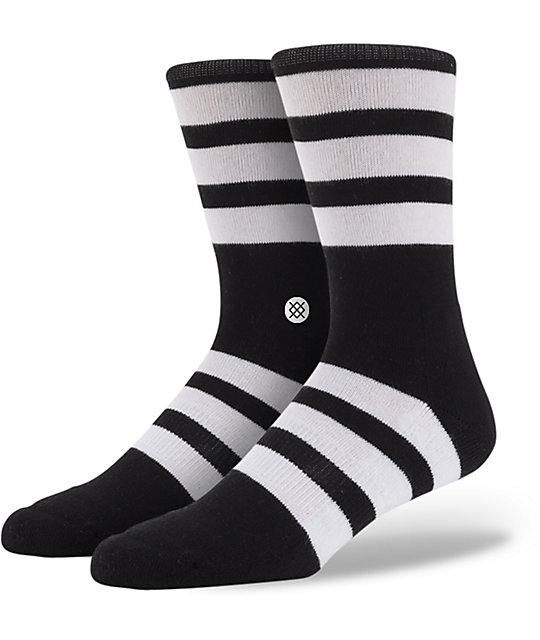 Stance Redwood Black & White Crew Socks