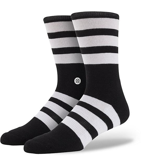 Stance Redwood Black & White Crew Socks