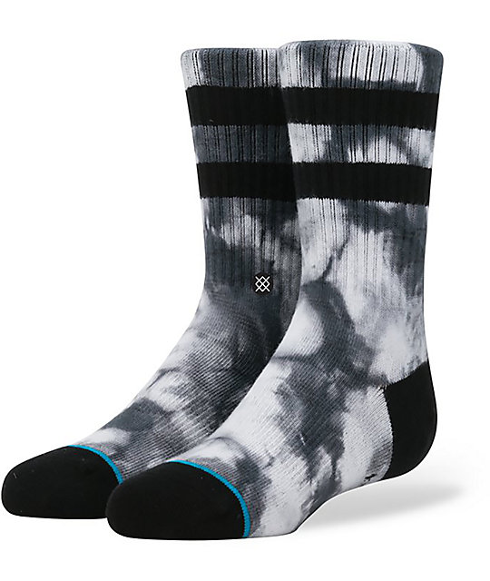 Stance Trainer Boys Black Tie Dye Crew Socks