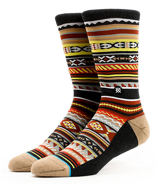 Stance Vista Tribal Print 200 Count Crew Socks
