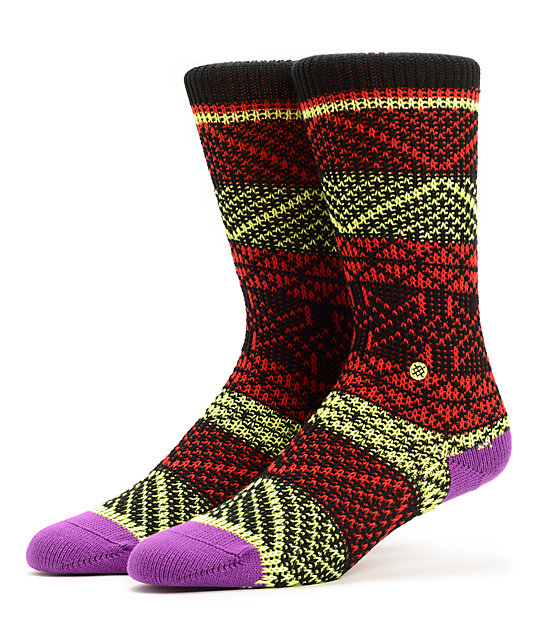 Stance Vortex Multi Colored Crew Socks